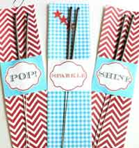 Printable Sparkler Holders