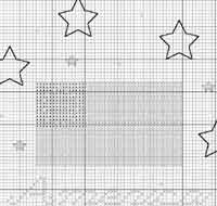 Stars and Stripes Cross Stitch Chart
