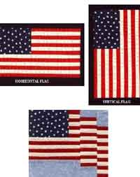 Paper Pieced American Flag Blocks