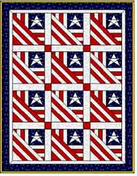 Paper Pieced Independence Day Quilt