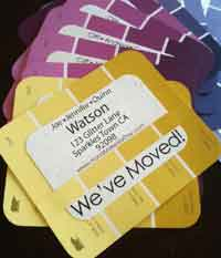 Paint Chip Address Cards