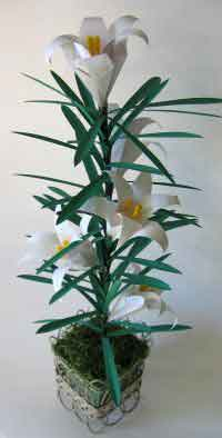 Over 75 free paper flower instructions at allcrafts easter lily plant mightylinksfo Choice Image