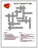picture relating to Valentine Crossword Puzzles Printable named Valentines Working day Printable Video games, Puzzles and Crafts