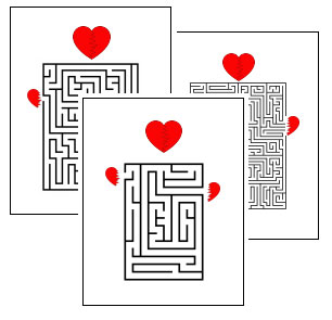 photograph relating to Valentine Crossword Puzzles Printable identified as Valentines Working day Printable Video games, Puzzles and Crafts