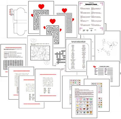 Valentine's Day Crossword Puzzle Printable