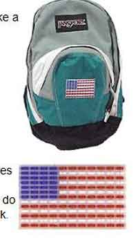 Back Pack Flag Decoration