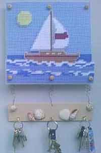 Ocean And Sailboat Key Holder