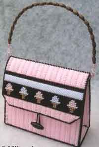 Plastic Canvas Purse For Girls