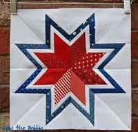 Paper pieced bordered star tutorial