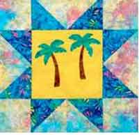 Palm Trees Applique Block