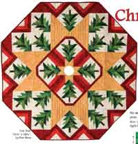 Quilted Christmas Tree Skirt Free Pattern