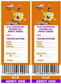 VIP TICKET PARTY INVITATIONS