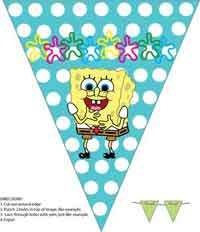 Spongebob banner wall decoration