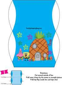Spongebob, Favor Box Free Printable