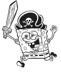 Printable Spongebob Coloring For Kids