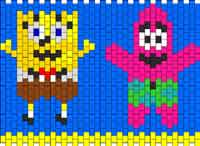 Spongebob And Patrick Cuff Or Small Purse Kandi Pattern