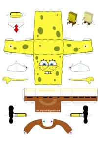 SpongeBob Paper Toy