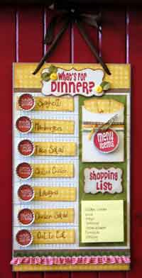 Magnetic Menu Planner Tutorial