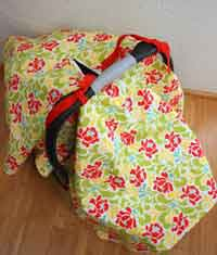 Zipper Car Seat Cover Tutorial