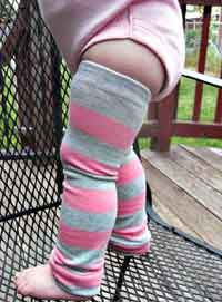 Baby Leg Warmers from Socks