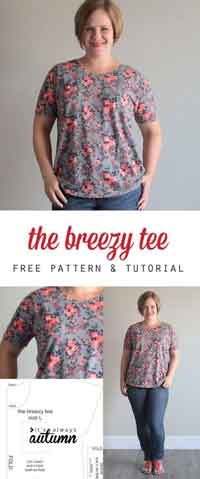 The Breezy Tee Free Sewing Pattern