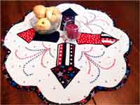 Quilted Fourth of July Table Mat