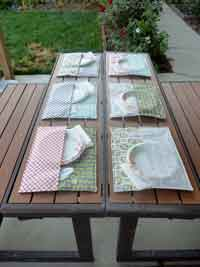Patio Place Mat Sewing Tutorial
