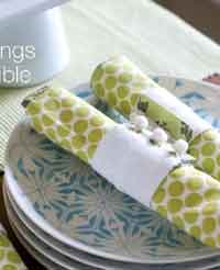 Napkin Rings and Reversible Napkins