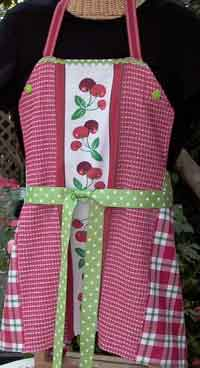 Apron Made from Two Dish Towels
