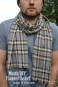 Easy Mens DIY Flannel Scarf