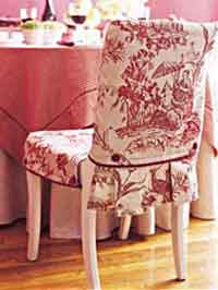 Slip Covered Dining Chair