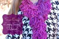 Sew Easy Loopy Scarf Tutorial