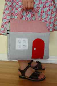 Fabric Dollhouse Sewing Tutorial