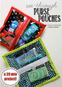 See-Through Zipper Pouches Sewing Tutorial