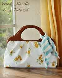 Sew A Wood Handle Handbag