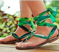 Ankle Wrap Sandals DIY