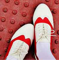 Make Your Own Red Saddle Shoes