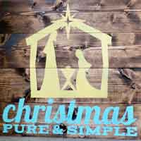 christmas pure + simple nativity