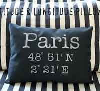 Latitude & Longitude Pillow