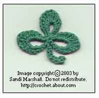 Irish Crochet Shamrock Free Pattern