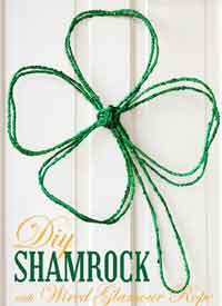 Shamrock Door Wreath
