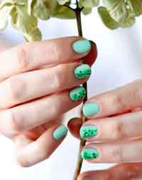 Speckled St. Pats Manicure