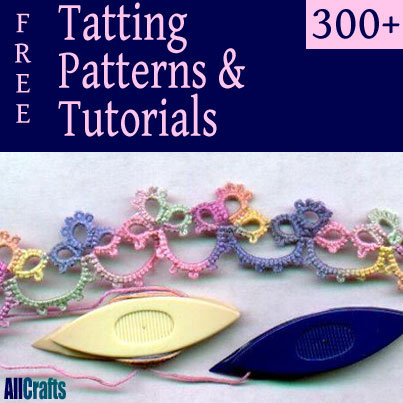 Pinterest image Over 300 Free Tatting Patterns and Projects