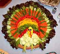 How to Make a Veggie Turkey Tray