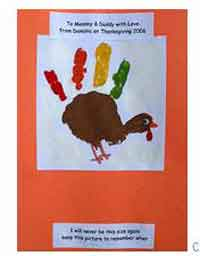 Painted Handprint Turkey
