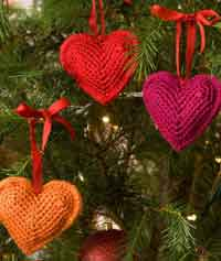 Tree Hearts Ornaments