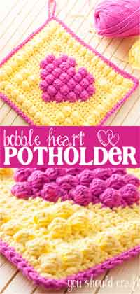 Bobble Heart Potholder
