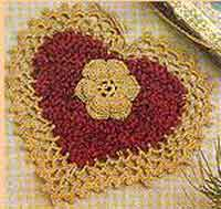Over 100 free valentines and heart crochet patterns at allcrafts chenille christmas heart decoration dt1010fo