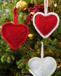 Christmas Love Hearts Ornaments