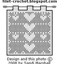 Filet Crochet Heart Banner